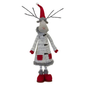 Red and White 33-Inch Holiday Moose