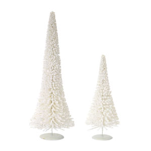 White and Silver Tree, Set of 2