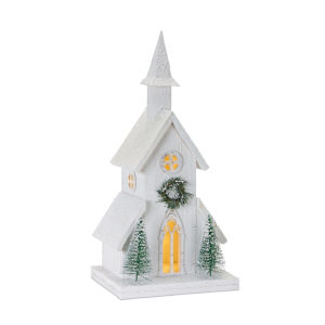 LED Lighted Holiday Church