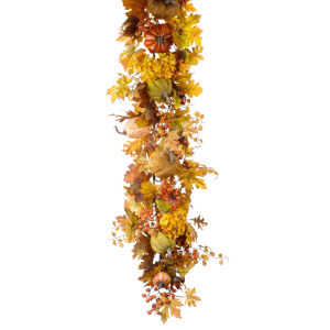 Red and Orange Harvest Garland, Set of 2