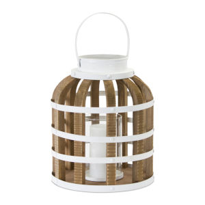 White and Brown 12-Inch Lantern