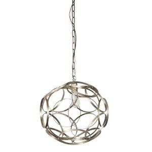 Silver and Copper 17-Inch Pendant