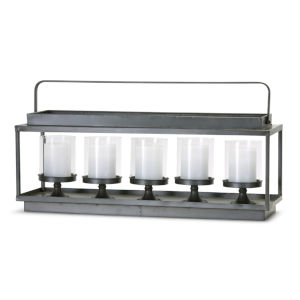 Brown and Black Eight-Inch Candle Holder
