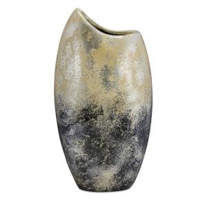 Black and Silver Vase, Set of 2