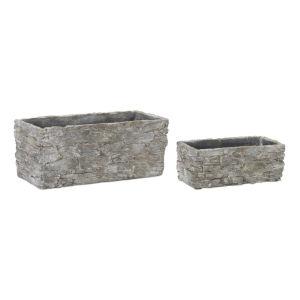 Concrete Rectangle Pot, Set of 4