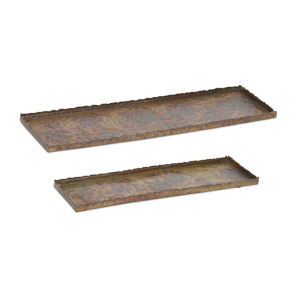 Rustic and Green Tray, Set of 2