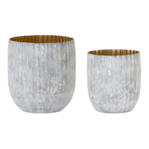 White and Grey Pot, Set of 4