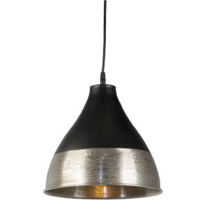 Silver and Black Hanging Lamp