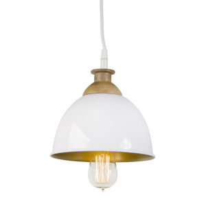 White and Brown Hanging Lamp