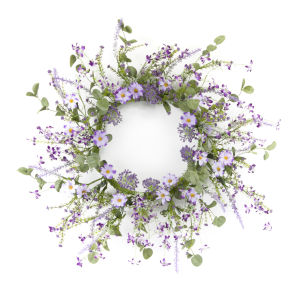 Purple and Green Mini Floral Wreath