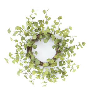 Green and Brown Ginkgo Foliage Wreath