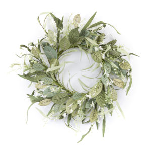 Green and White 24-Inch Mini Berry Wreath