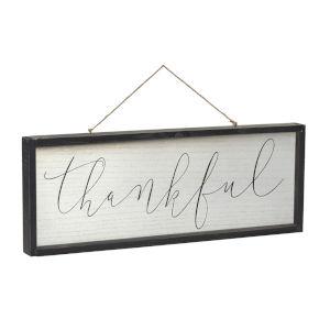 Black and White Thankful Gather Frame