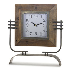 Mission Style Clock on Stand