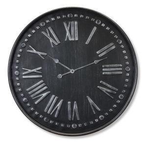 Black Iron 32-Inch Clock
