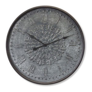 Tin Ceiling Tile Style Wall Clock