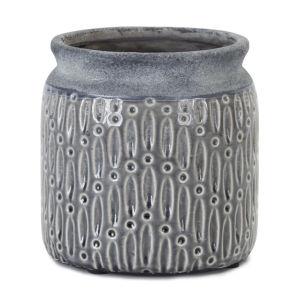 Grey and Blue Pot, Set of 2