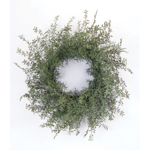 Green and Brown Spring Foliage Wreath