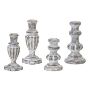 Grey and White Candle Holder, Set of 4