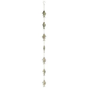 Green and Brown 58-Inch Rain Chain, Set of 2