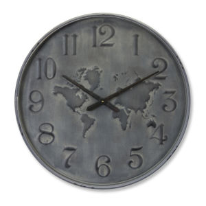 Grey and Black 28-Inch Clock