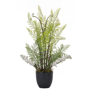Green and Brown 25-Inch Fern Potted, Set of 2