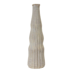Brown and White 16-Inch Vase, Set of 2