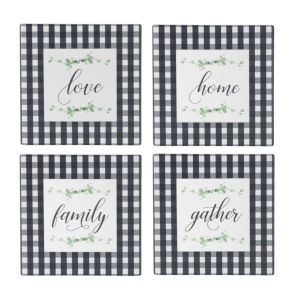 Black and White Word Tile, Set of 12