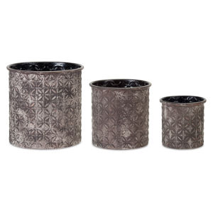 Grey and White Pot, Set of 3