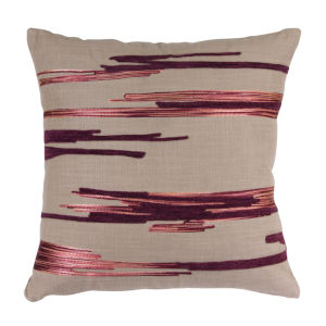 Purple and Beige Pillow, Set of 2