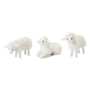 White Lamb Figurine, Set of 24