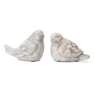 Stone Bird Figurine, Set of 4