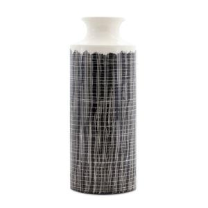 Black and White 20-Inch Terra Cotta Vase
