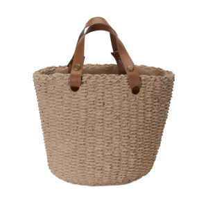 Brown Basket With Handle, Set of 3