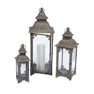 Gray Lantern, Set of Three