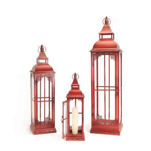 Red Lantern, Set of Three