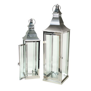 Silver Lantern, Set of Two