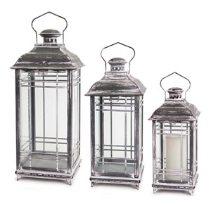 White and Gray Lantern, Set of Three