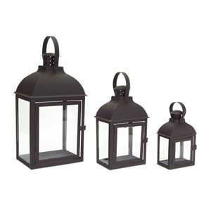 Black and Brown Lantern, Set of Three