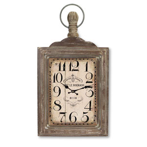 Brown and Gray Wall Mount Clock