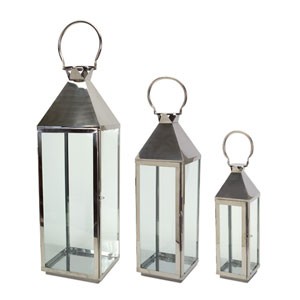Silver Lantern, Set of Three