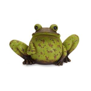Green and Rust Frog Garden Statue