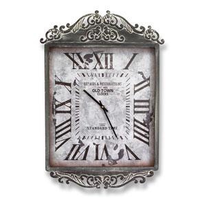 Gray Scroll Top Wall Clock