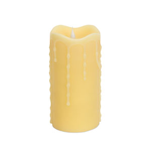 Honey Simplux LED Moving Flame Drip Candle with Remote