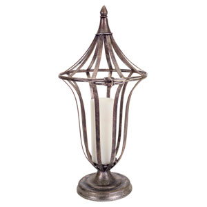 Silver and Bronze Open Antique Lantern