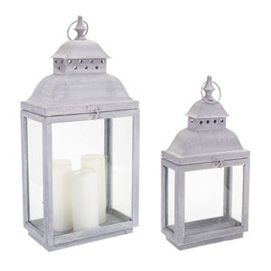 Gray Lanterns, Set of Two