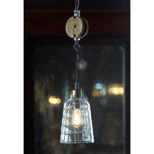 Gray Pulley Pendant Light Fixture
