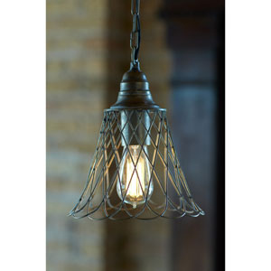 Gray Wire Pendant Light Fixture