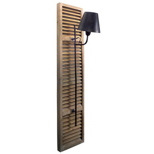 Beige and Black Shutter Lamp Light Fixture