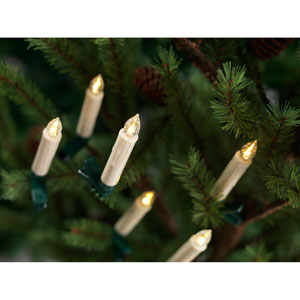 White LED Clip-on Taper Candles with Remote, Set of 24